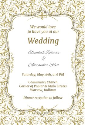 free printable wedding templates for invitations free wedding invitation templates weddingwoow