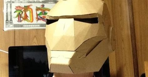papermau: wearable iron man helmet in 1/1 scale made out