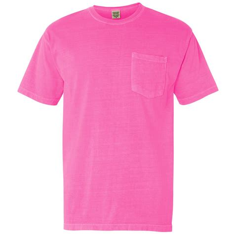 comfort colors neon pink comfort colors 6030 garment dyed heavyweight ringspun