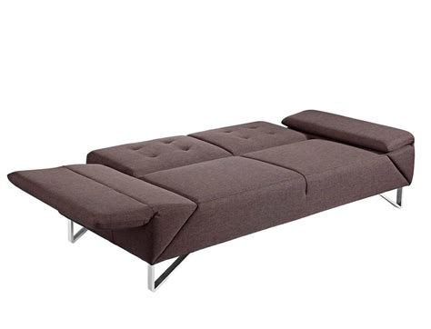 modern sofa sleeper in brown fabric vg467 sofa beds