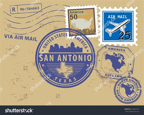 rubber sts san antonio grunge rubber st set name stock vector 128291273