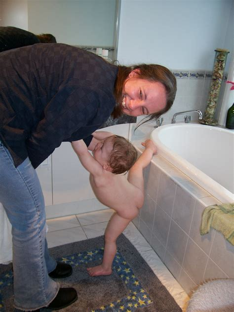 mom and me in bathroom bathtime silliness romancing the rock