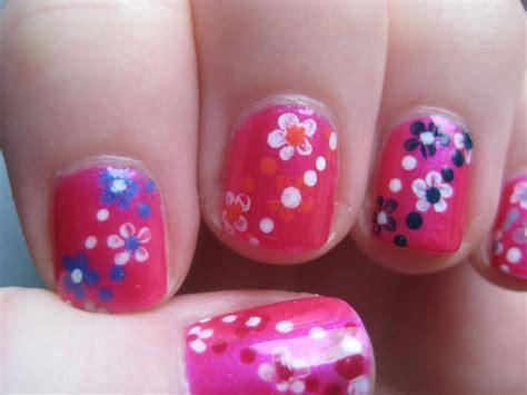 tulip flower nail art youtube easy small summer flowers beginners nail art on short