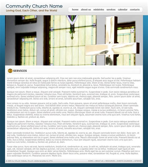 Church Web Templates by Church Website Template 213 Church Web Template