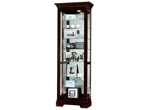 howard miller saloman black coffee curio cabinet how680412
