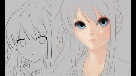 part    paint  realistic anime face youtube