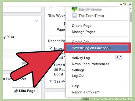 how to make a fan page how to create a facebook fan page 9 steps with pictures