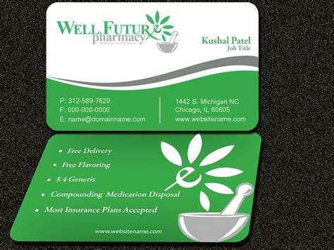 free pharmacy business card template playful business card design for kushal patel by