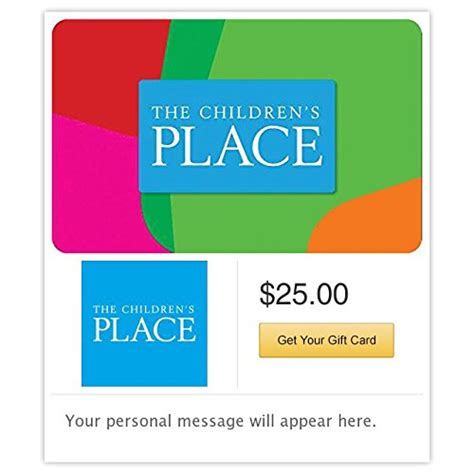 Gift Cards For Children - the children s place gift cards e mail delivery online shopping rocks