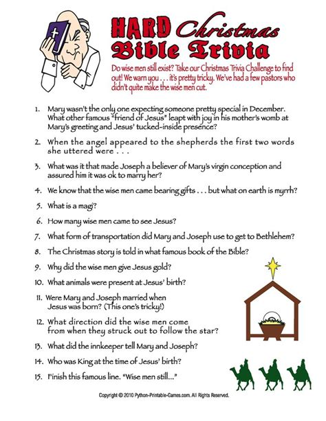 printable christmas games and quizzes 4 best images of printable christmas bible trivia