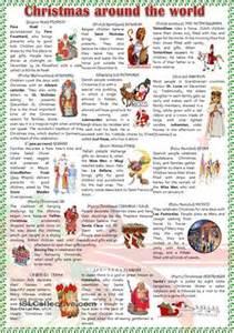 Christmas around the world worksheet free esl printable worksheets