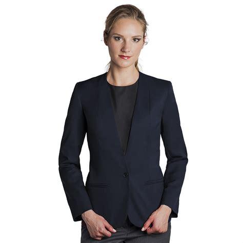 Preloved Cardigan Blazer Biru Fashion s blazer easywear collarless cardigan 1 button executive apparel