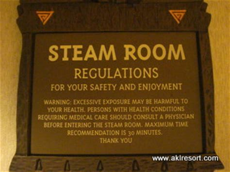 steam room etiquette fitness room signs