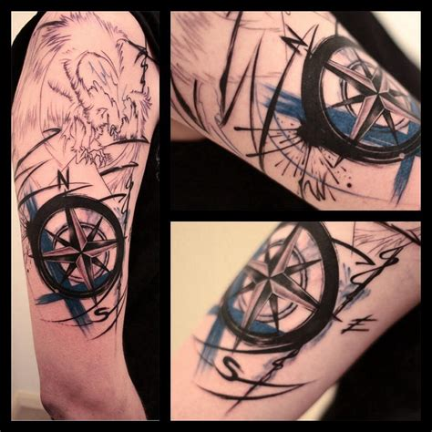 quarter sleeve compass tattoo half sleeve compass tattoo pictures to pin on pinterest