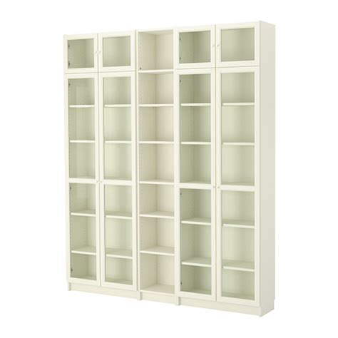 Billy Bookcases At Ikea Billy Oxberg Bookcase White Ikea