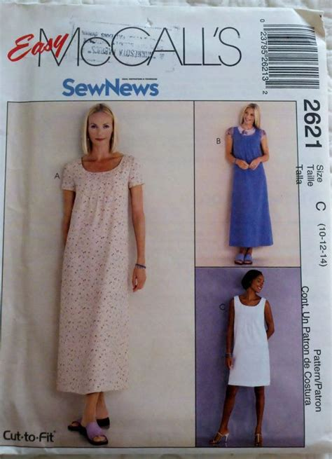sewing pattern womens jumper womens sewing pattern dress or jumper mccall s 2621 bust