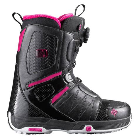 womans snowboard boots salomon pearl boa snowboard boots s 2012 evo outlet