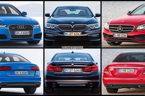 Vergleich Audi A6 Bmw 5er by Bild Vergleich Bmw 5er G30 Vs Audi A6 Und Mercedes E Klasse