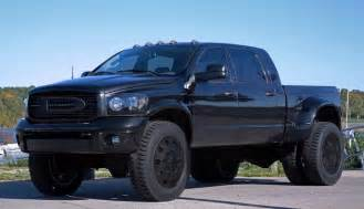 dodge 3500 cummins blacked out lifted trucks are