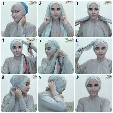 tutorial hijab turban kepang turban tutorial hijab love pinterest