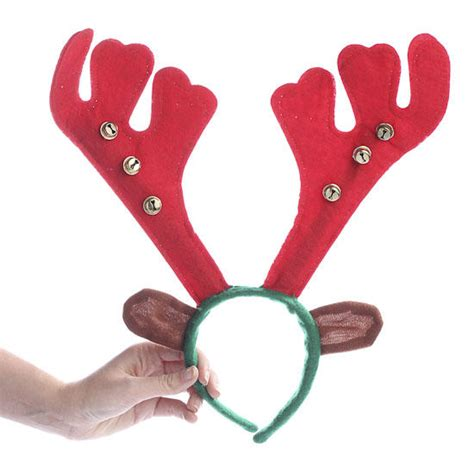 holiday reindeer antler headband christmas and winter