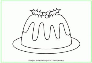 colouring pages christmas pudding christmas pudding crafts