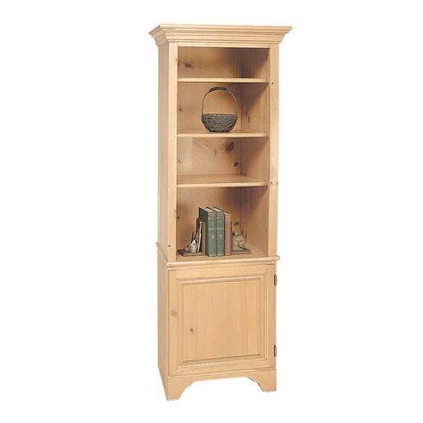 Unfinished Bookcase Kits bookcase unfinished pine shaker kit 66 5 quot h