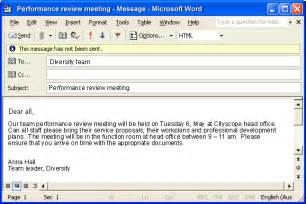 professional email format slim image