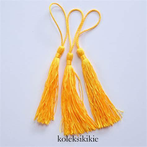 Anting Ke57624 Anting Tassel White tassel nilon kuning koleksikikie