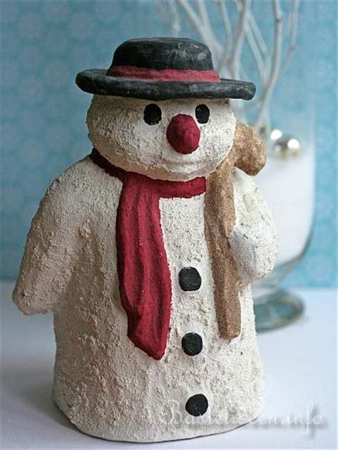 basteln zu weihnachten pappmache schneemann
