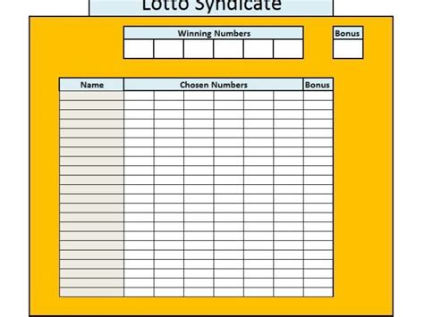 euromillions syndicate agreement template excel for lottery calendar template 2016