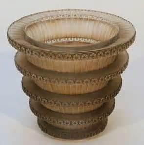 tall lava l rene lalique vase chevreuse 1374 rlalique