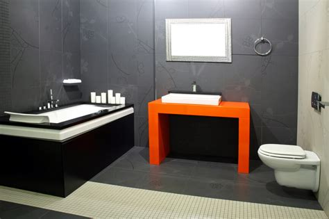 orange and grey bathroom 32 bathrooms with dark floors