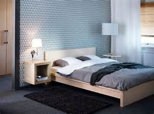 Malm Bedroom Ideas Malm Birch Veneer Bed With Expedit Birch Effect Shelving
