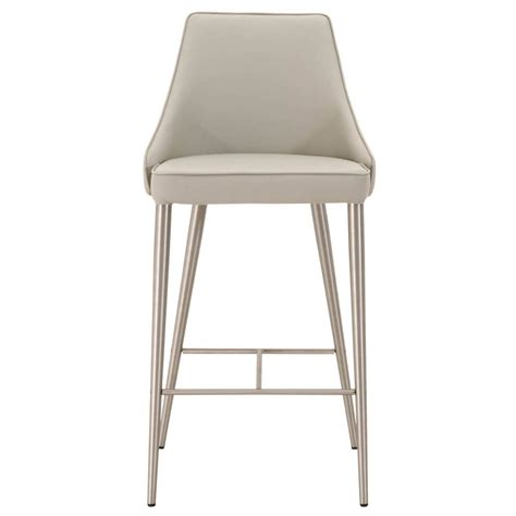 Light Grey Counter Stools by Macala Synthetic Leather Counter Stool Light Grey Zuri