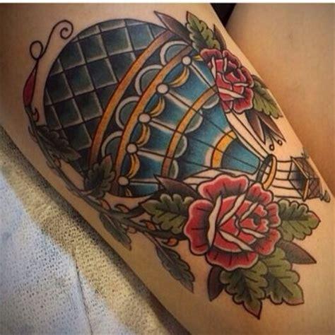 hot air balloon tattoo traditional air balloon