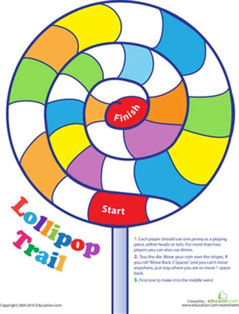 printable lollipop images lollipop trail game worksheet education com