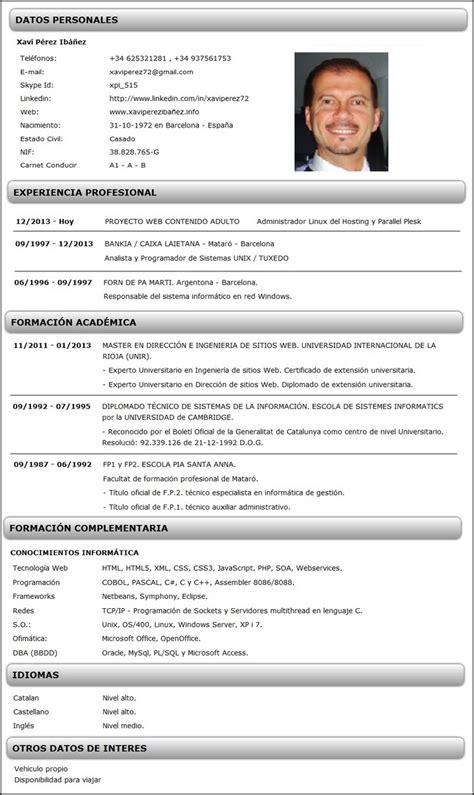 Modelo De Curriculum De Trabajo modelo de curriculum cronol 243 gico curriculums