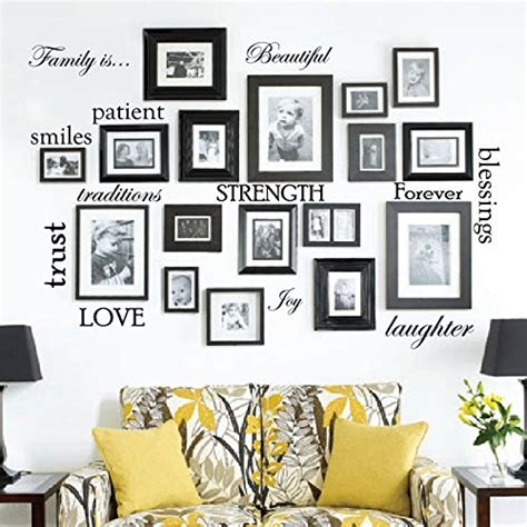 how to put picture frames on the wall without nails creative wall decal picture frames put all that on
