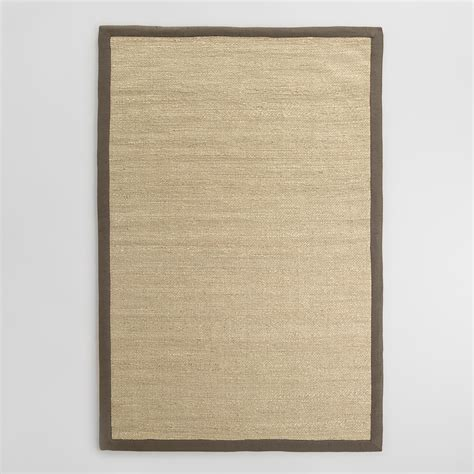 Jute Area Rugs Shiitake Bordered Chunky Jute Area Rug World Market