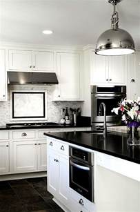 Pictures Of Kitchens With White Cabinets And Black Appliances Black And White Kitchens Ideas Photos Inspirations