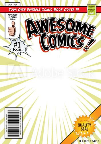 comic book cover template comic book cover template buy this stock vector and
