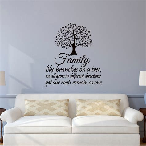 wall quotes wall decals comfort family wall decal quotes family like branches on a tree