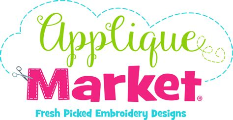 applique market embroidery fonts applique market