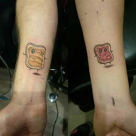 peanut butter jelly tattoo 61 tattoos that will warm your peanut