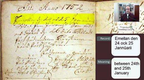 Swedish Birth Records Reading Swedish Birth And Christening Records 1752
