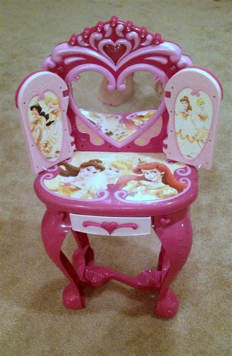 disney princess light up and sound plastic vanity table