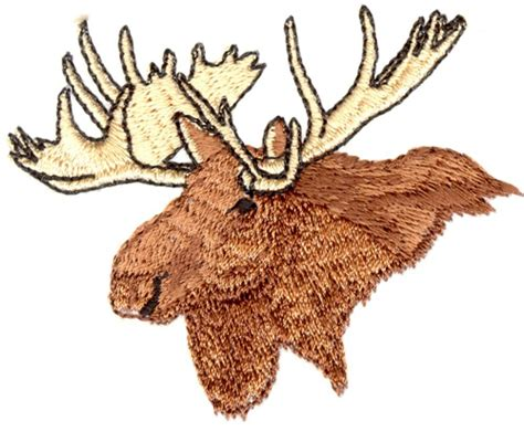 embroidery design moose stitchitize embroidery design moose head 2 26 inches h x