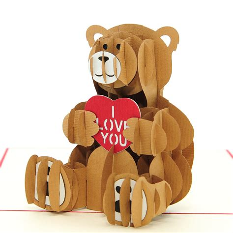 teddy pop up card template free teddy pop up card pop up birthday card 3d card high