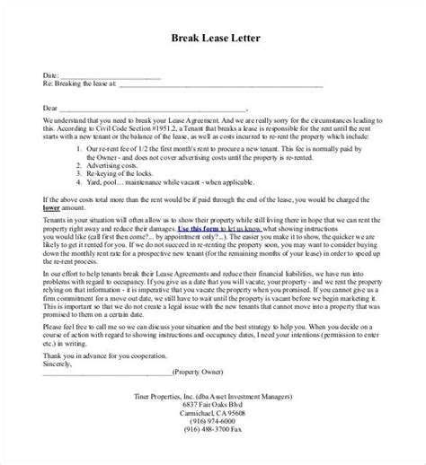 lease termination letter templates 18 free sle
